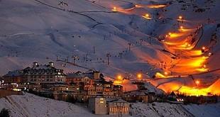 Sierra Nevada é a principal estação de esqui na Espanha