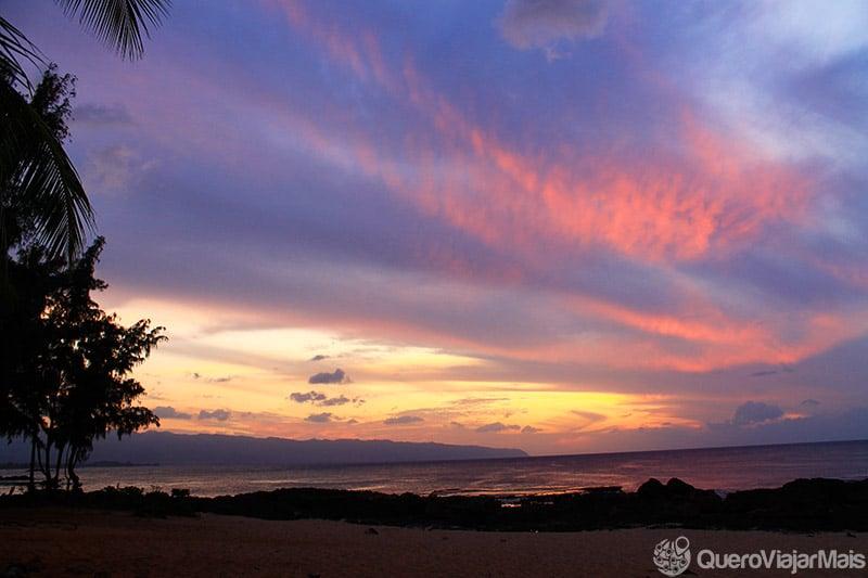 North Shore, região com lindas praias do Hawaii