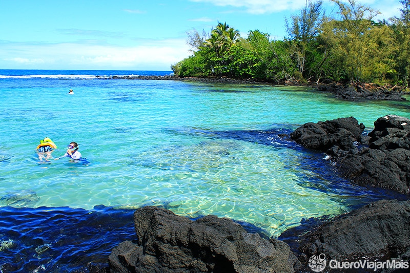 Praias para snorkeling em Big Island