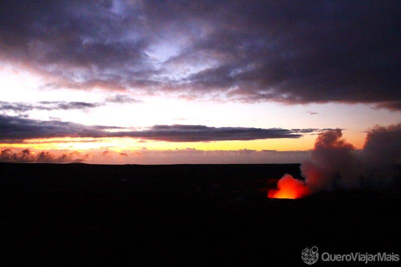 Vulcão Kilauea no Havaí