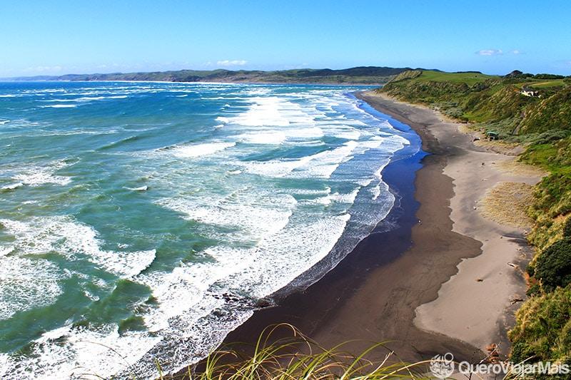 Praias pra curtir no verão da Nova Zelândia