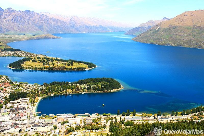Viajar na ilha sul da Nova Zelândia