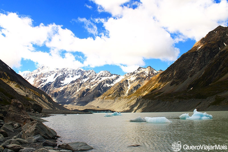 Destinos turísticos na ilha sul da Nova Zelândia