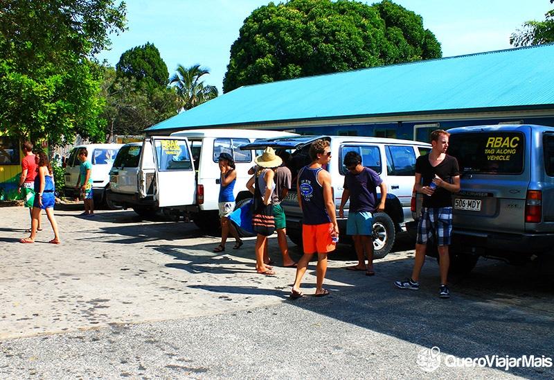 Agência de viagem em Fraser Island