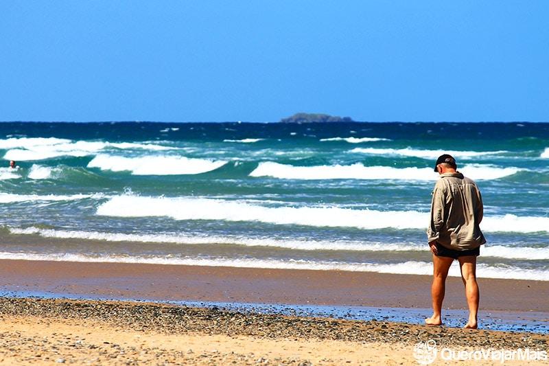 Praias na costa leste da Austrália