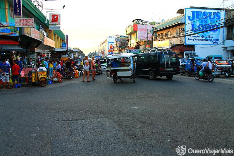 Centro de Puerto Princesa, em Palawan
