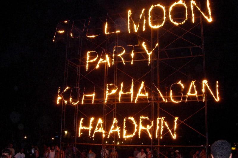 Full Moon Party, top entre as festas da Tailândia.