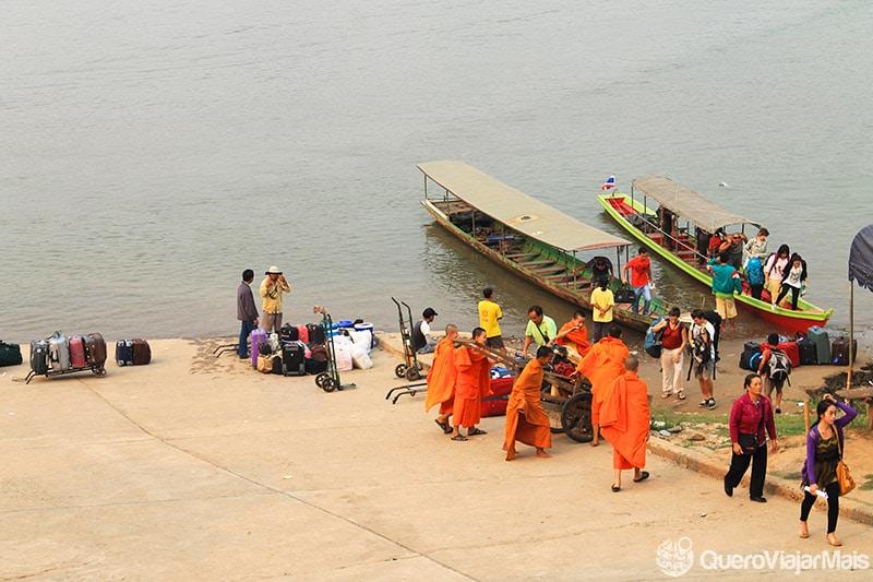 Cruzar a fronteira Tailândia com o Laos