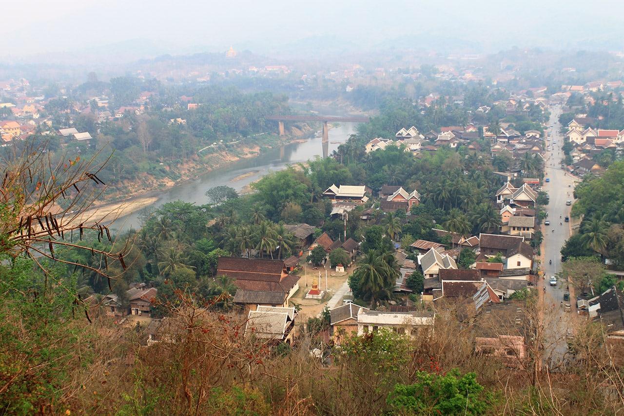 Vista aérea de Luang Prabang