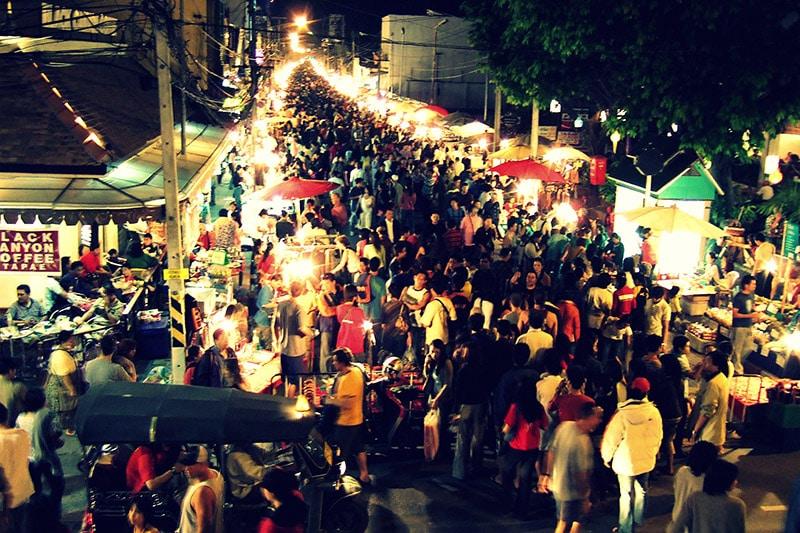 Mercado noturno de Chiang Rai