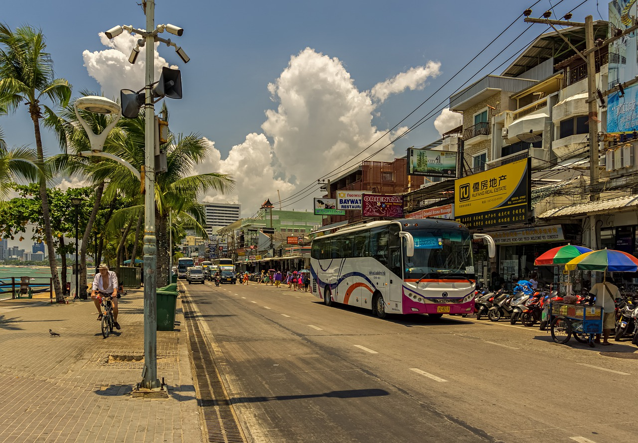 Viajar de ônibus na Tailândia