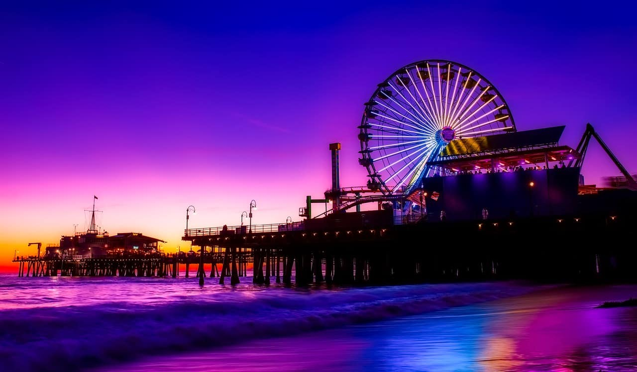 vida noturna na Califórnia