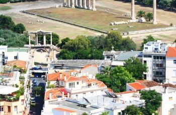 O Templo de Zeus Olímpio.
