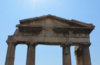 Ruínas no centro de Atenas.