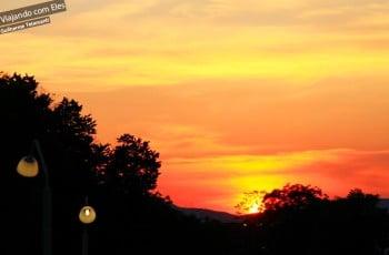 Por do sol em Atenas.