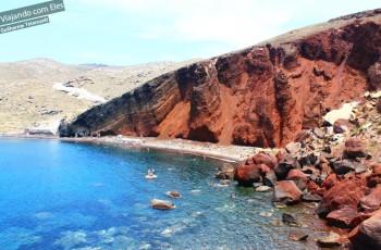 Red Beach em Santorini.