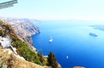 Fira, cidade central em Santorini.