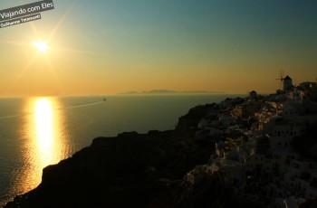 Por do sol em Oia - Santorini.