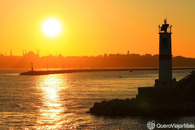 Pôr-do-sol na Turquia