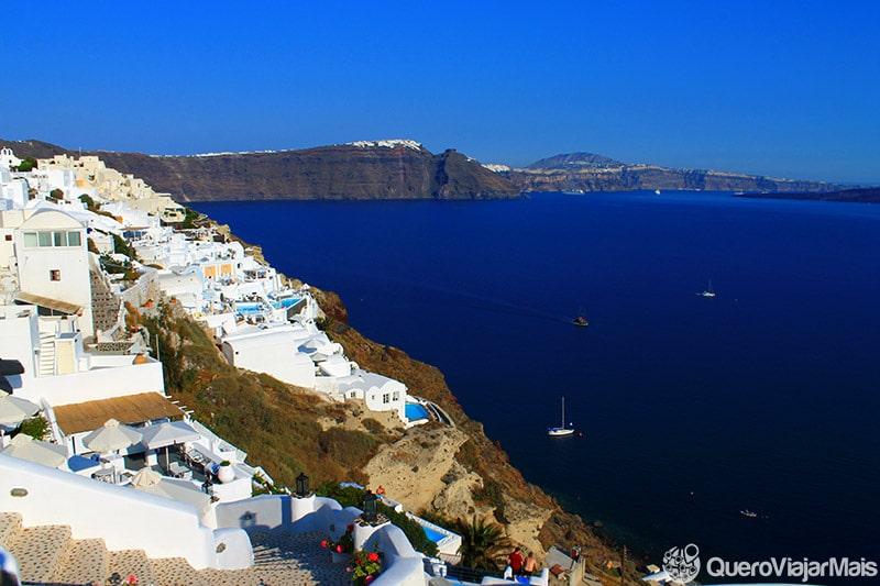 Viagem de turismo em Santorini