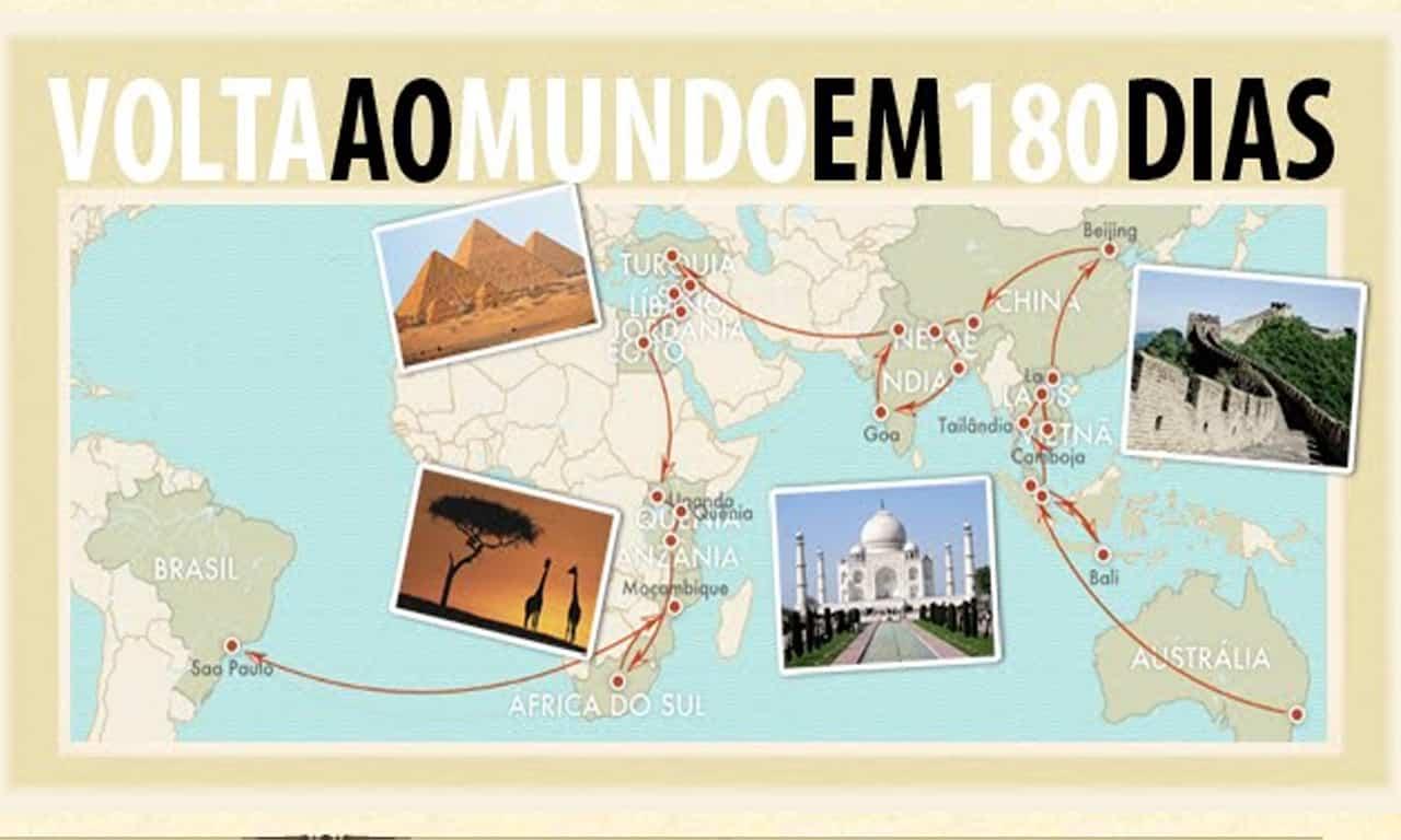 livro sobre viagem de volta ao mundo