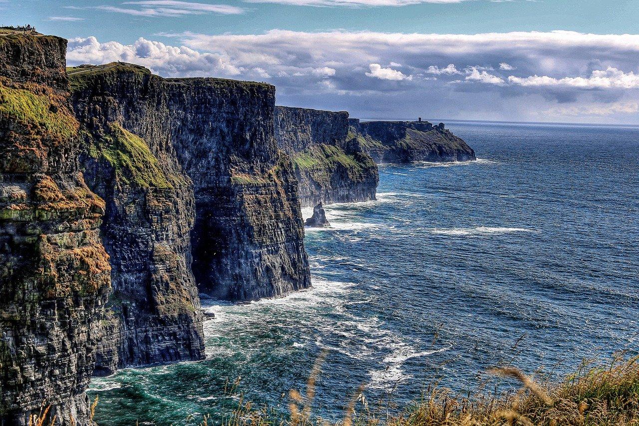 Cliff-of-moher na Irlanda