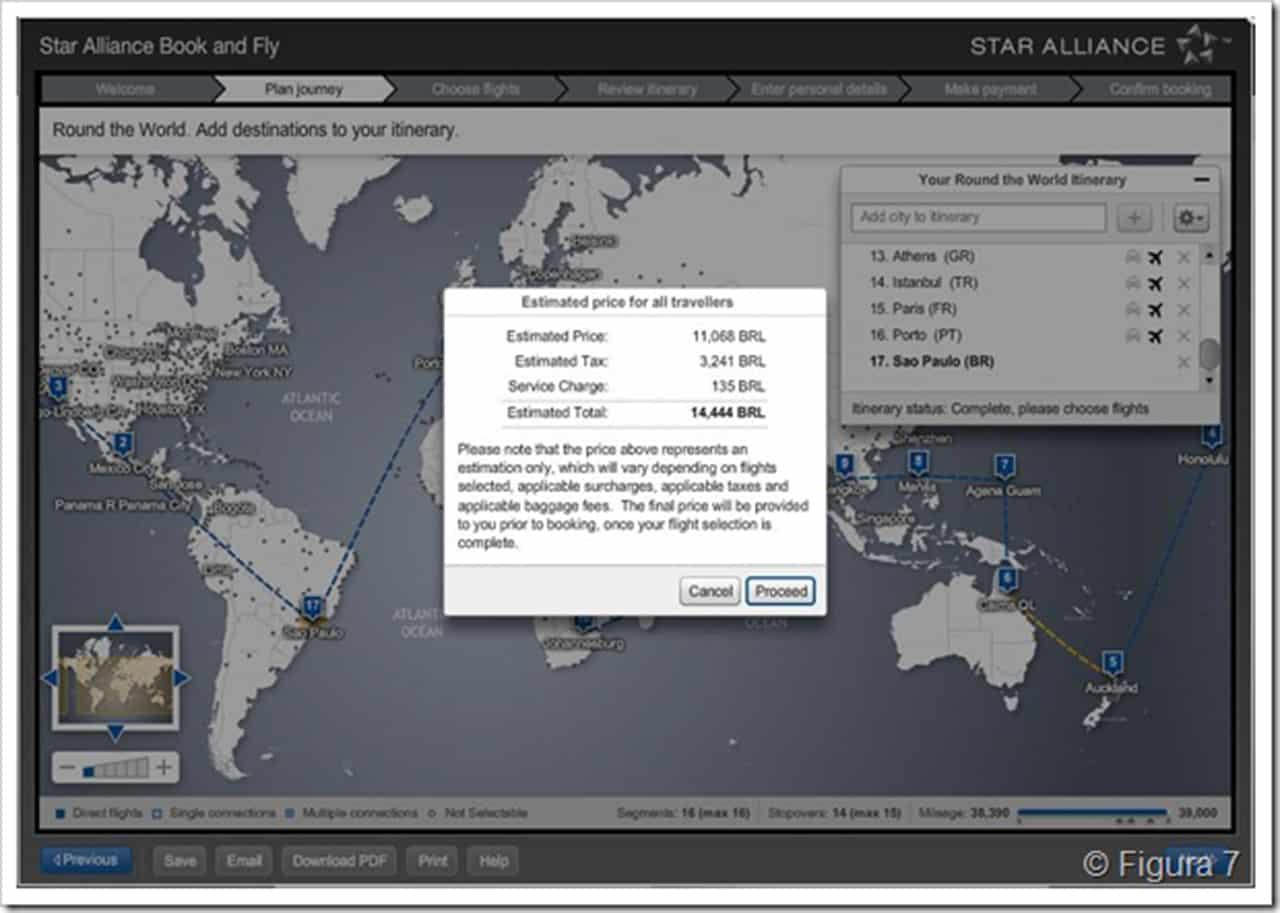 Viagem de volta ao mundo pela Star Alliance