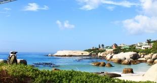 Praia pertinho de Cape Town.