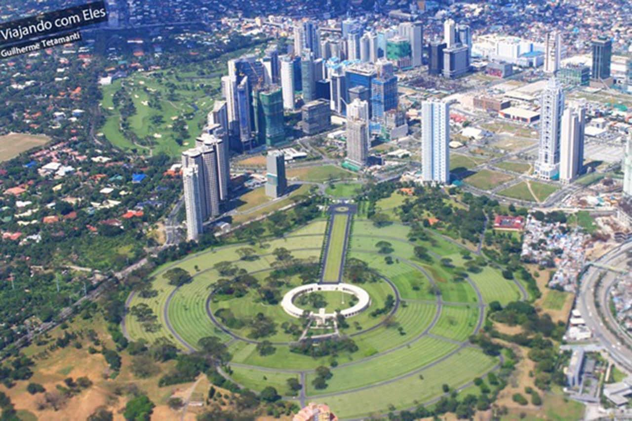 Foto aérea do cemitério de Manila