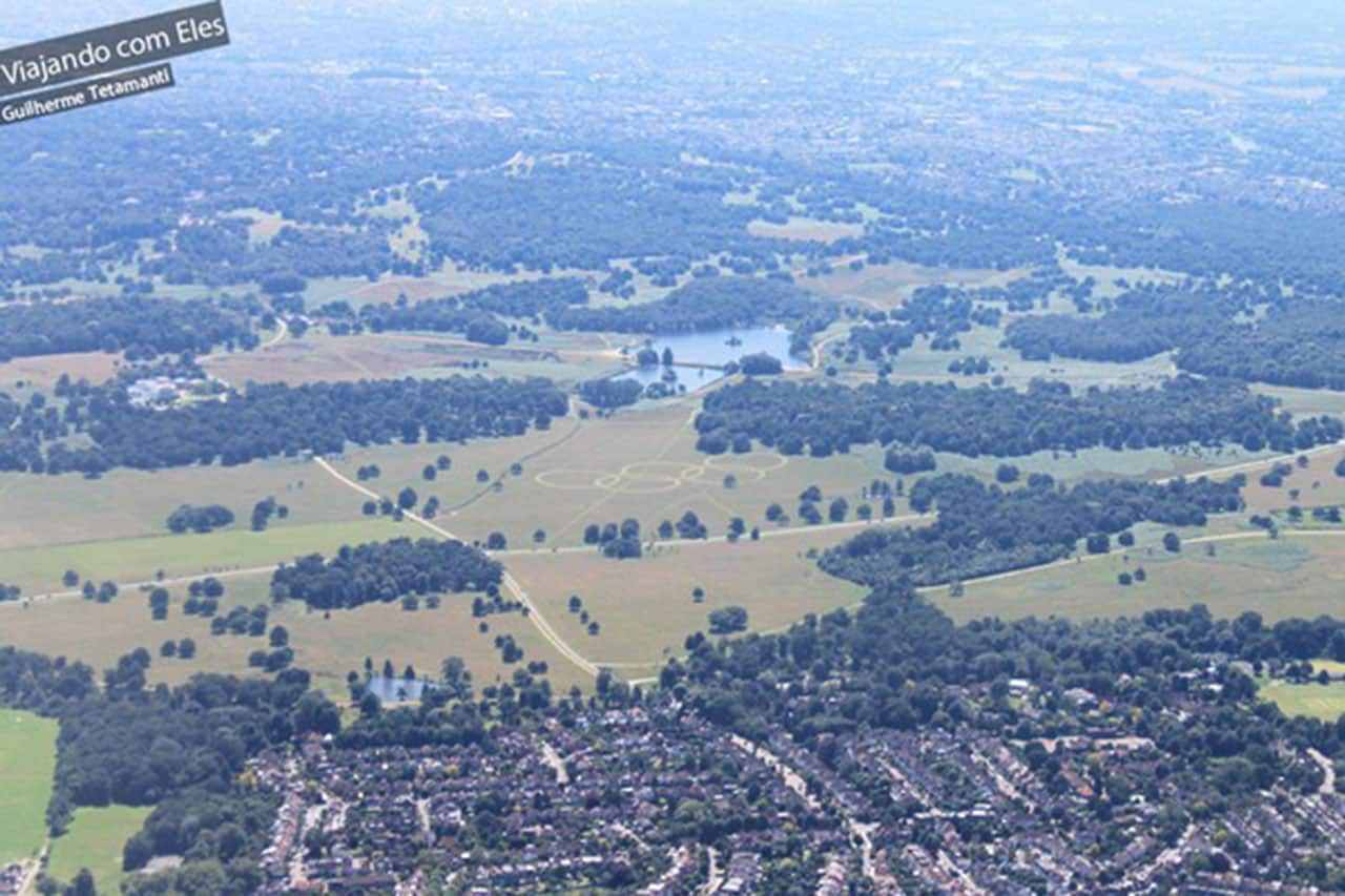 fotos de vistas aéreas Londres durante as Olimpíadas