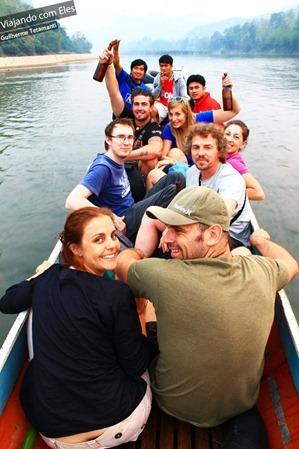 Voltando de barco para Nong Khiaw.