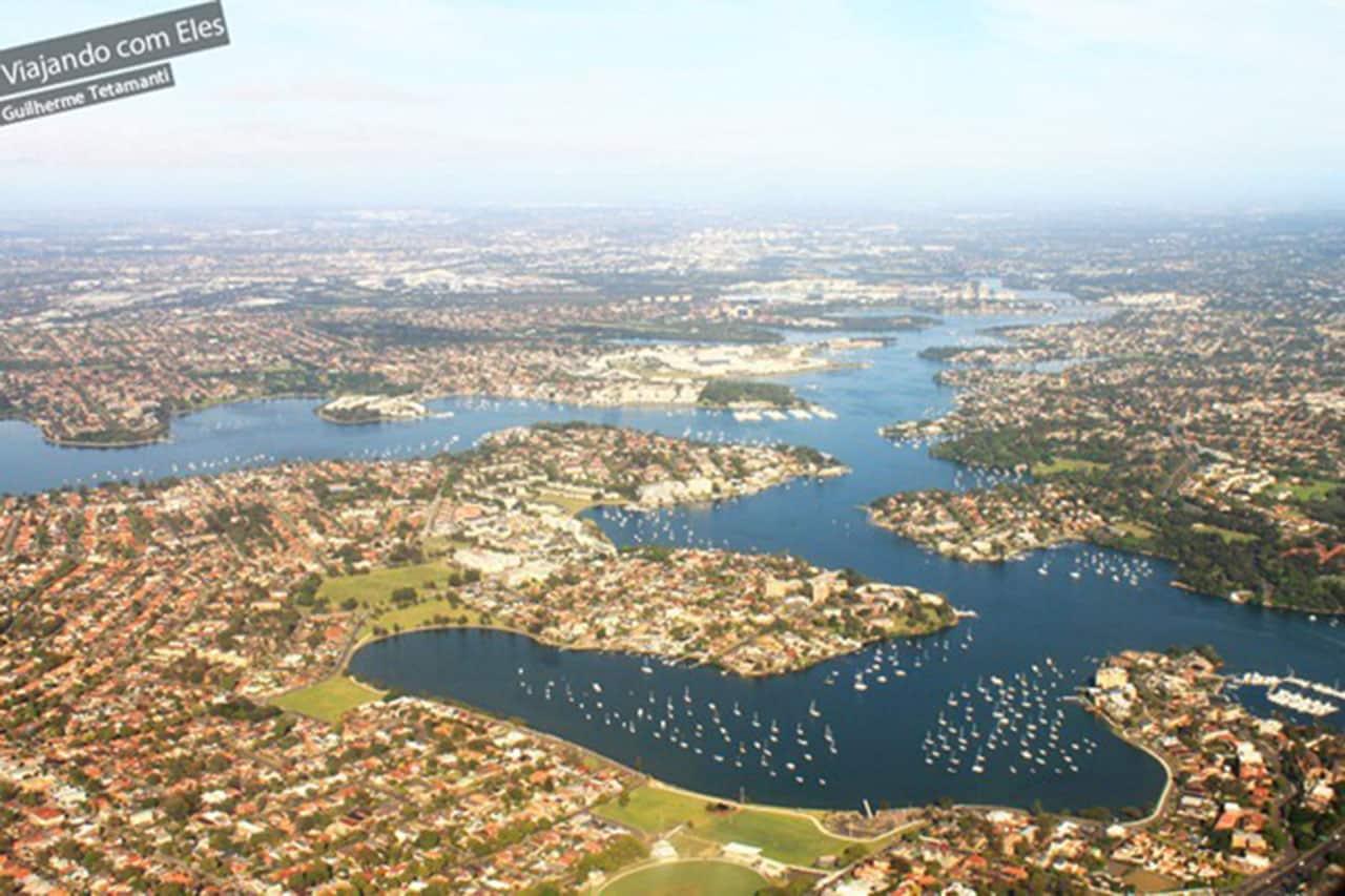 Vista chegando em Sydney