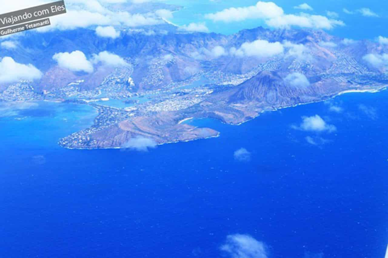 fotos de vistas aéreas Hanauma Bay