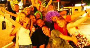 Festa em Queenstown.