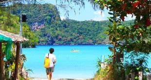Praia de Koh Phi Phi.