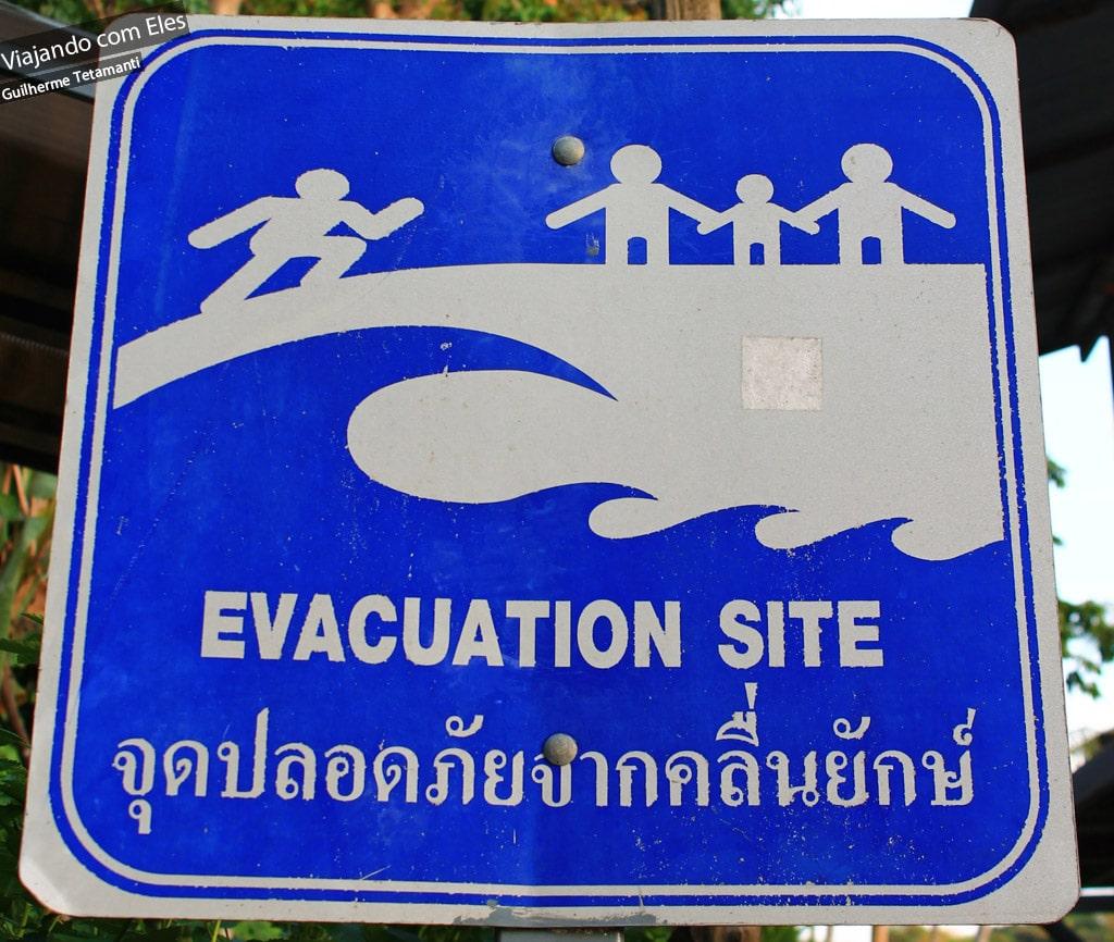 Placa de evacuação