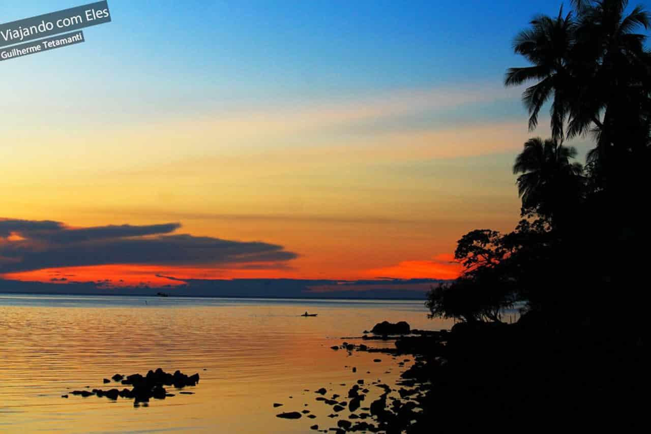 Pôr do sol em Koh Phangan.