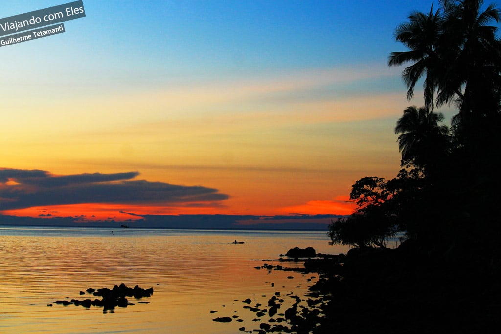 Pôr-do-sol na Tailândia