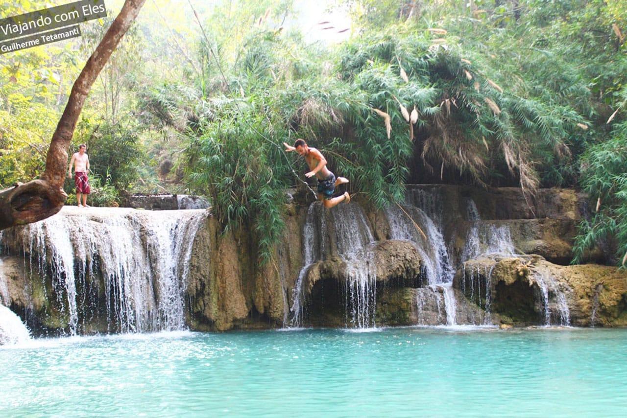 Momento de diversão no Laos.