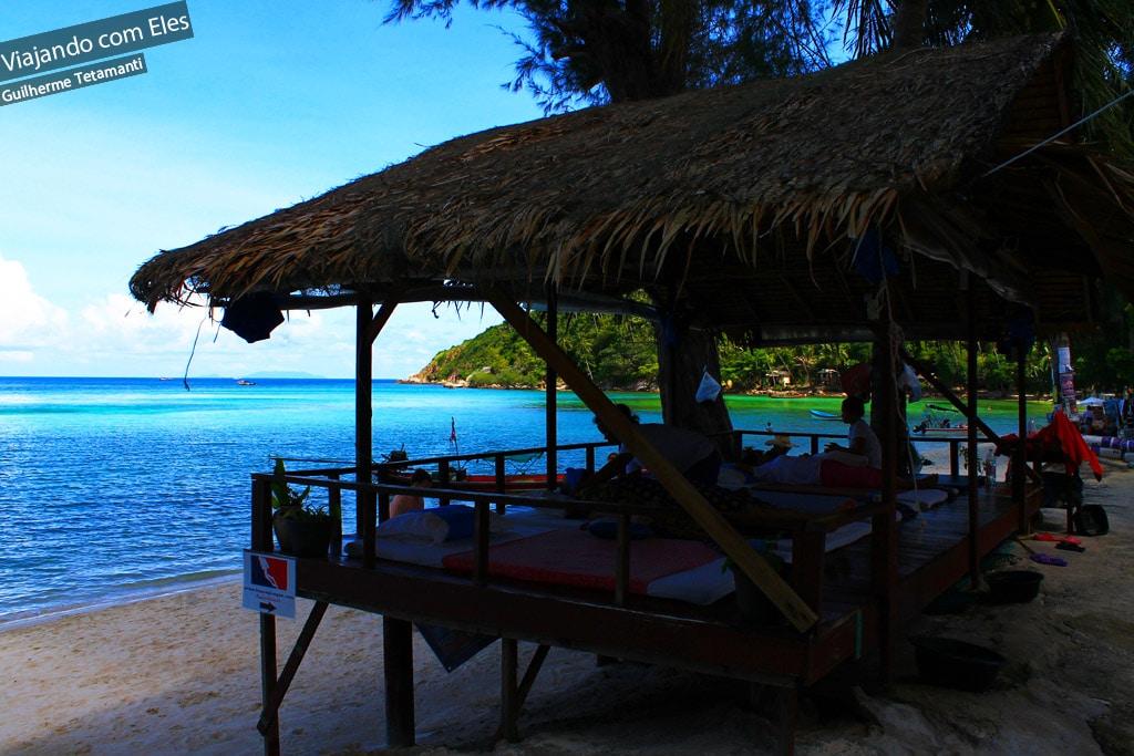 Praia de Koh Phangan.