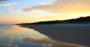 Pôr-do-sol em Fraser Island.