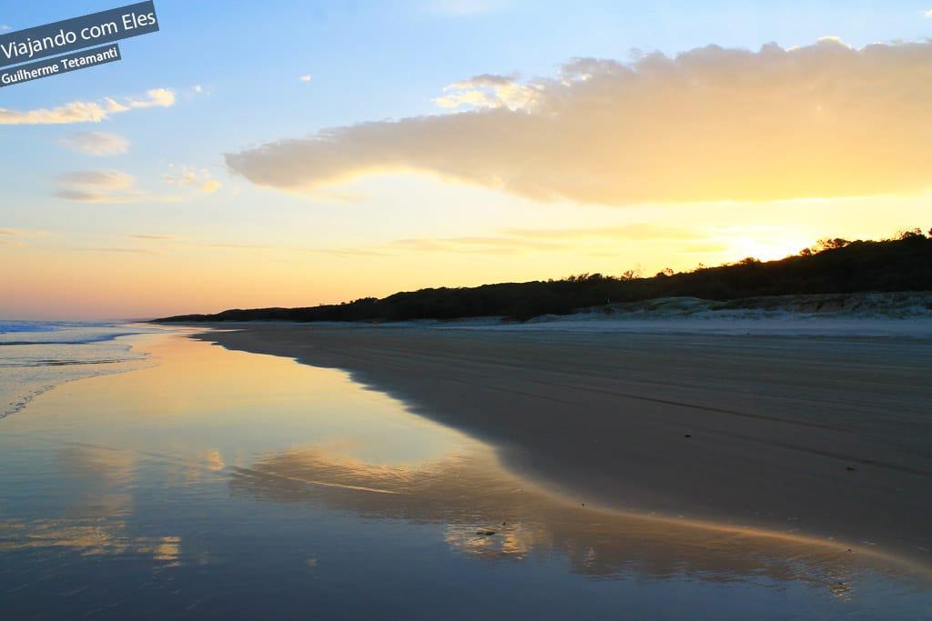 Pôr do sol em Fraser Island
