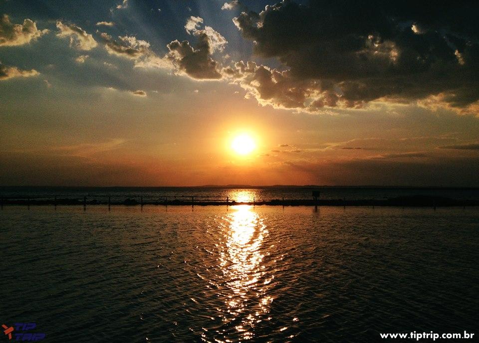 Pôr do sol em Palmas, antes de chegar ao Jalapão