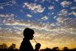 Sol nascendo no Jalapão.