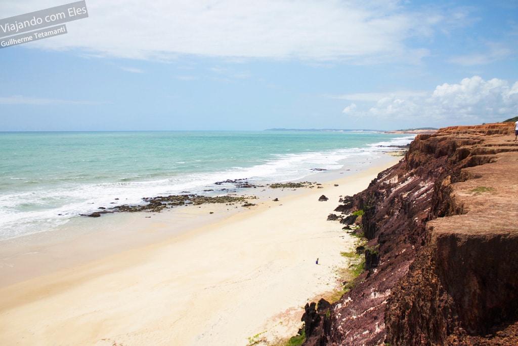 Praia das Minas vista do Chapadão.