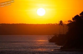 Pôr-do-sol em Tibau do Sul.