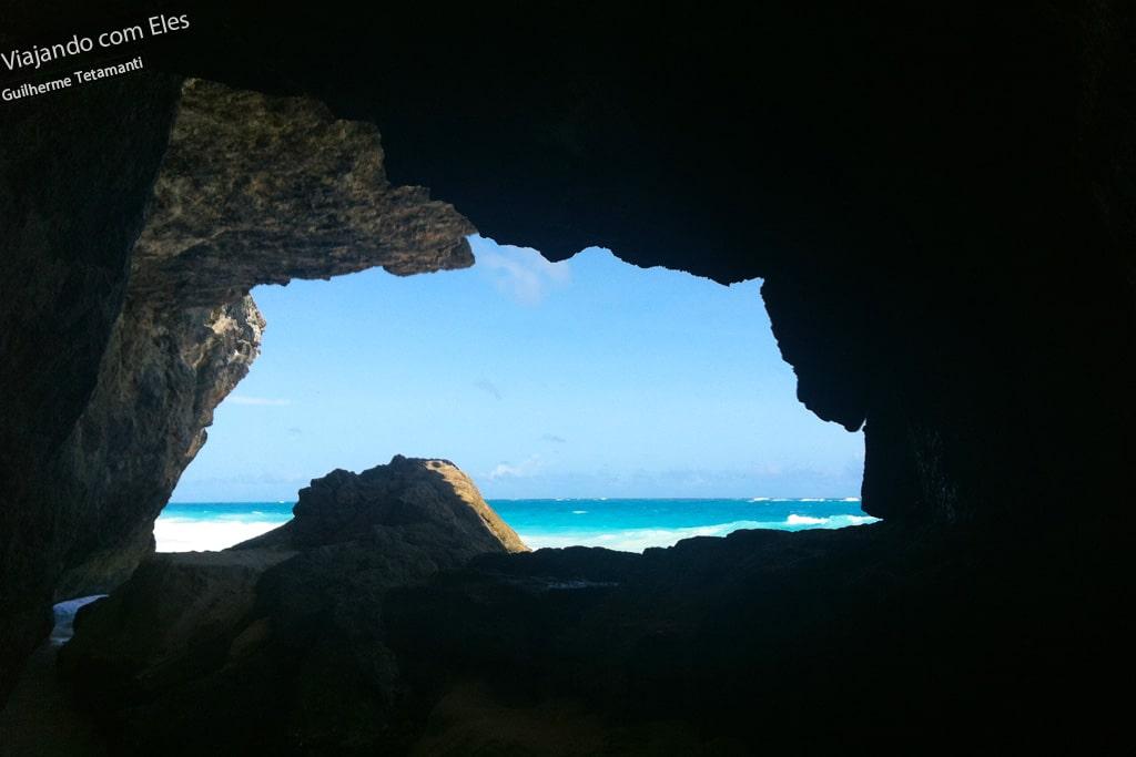 A caverna de Crane Beach / Barbados