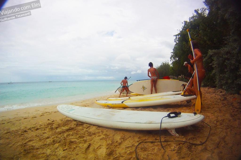 Stand UP Paddle em Heron Bay / Barbados