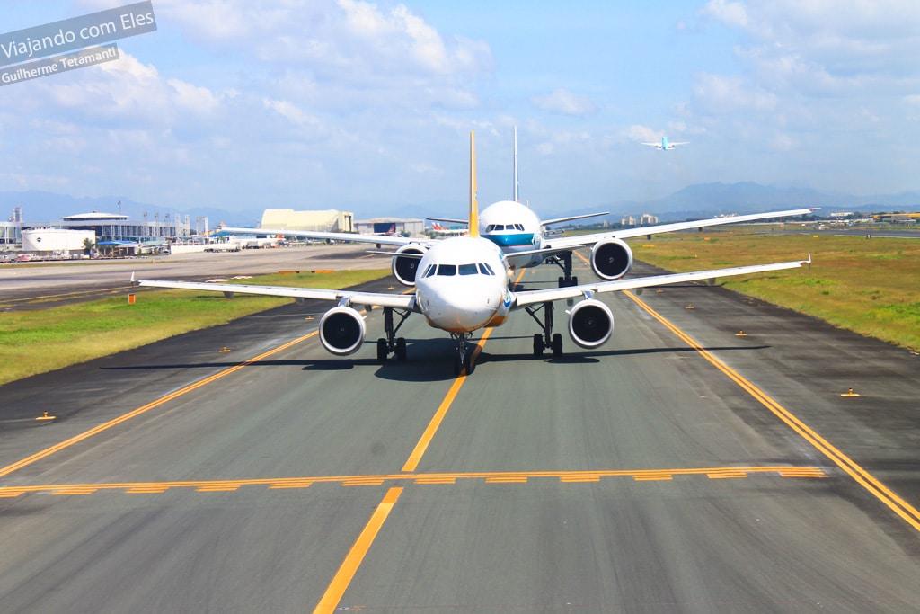 Viajar de avião nas Filipinas