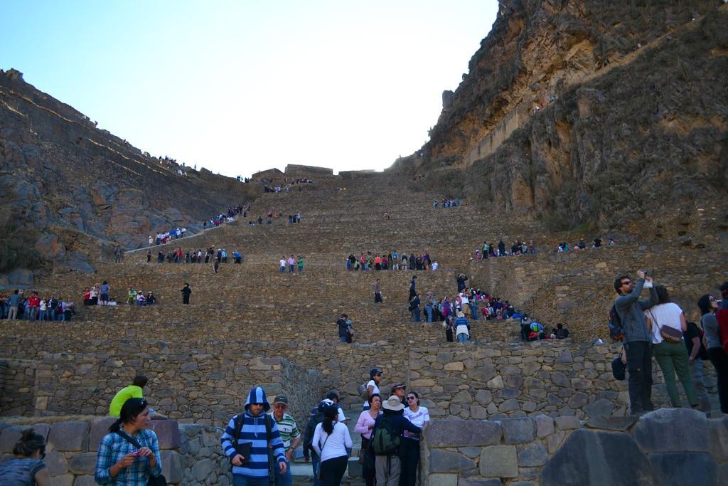 Turistas em viagem ao Peru